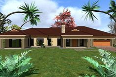 My House Plans, 4 Bedroom House Plans, Family House Plans, House Floor Plans, Village House Design, Village Houses, Beautiful House Plans, Beautiful Homes, Luxury Homes Dream Houses