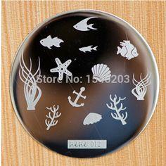 Seabed Alga Fish Pattern Nail Stamping Plates Hehe 012 ...