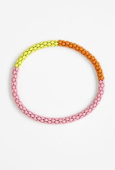 Lucy Folk, pink painted bracelet