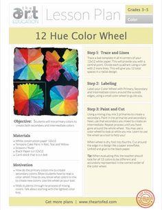 12 Hue Colour Wheel: Free Lesson Plan Obtain - Color Art Lessons, Visual Art Lessons, Art Education Lessons, Art Lessons For Kids, Elementary Art Lesson Plans, Elementary Art Rooms, Color Wheel Lesson, Colour Wheel, Keith Haring
