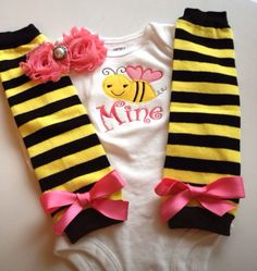 Baby Girl Valentine's Day BEE MINE Outfit