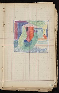 Citation: Painting Diary, 1916-1918 . Oscar Bluemner papers, Archives of American Art, Smithsonian Institution.