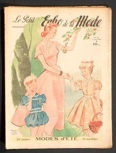 'ECHO DE LA MODE' FRENCH VINTAGE NEWSPAPER SUMMER FASHION ISSUE 5 JUNE 1949 | eBay