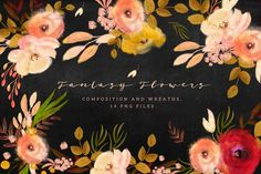 Fantasy Flowers by Webvilla on @creativemarket