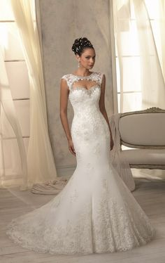 Chic Trumpet-Mermaid Sweetheart Organza Ivory Wedding Dress LWXT1403D