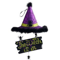 Witch Is In Halloween Wall Decor -- Go to Pier1.com and register to pin 10 items for a chance to win $5,000 in merchandise!