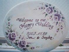 トールペイント decorative painting pintura decorativa ウェディング ボード wedding