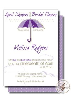 b563d25df99 Bridal Shower Invitation - Showered with Love
