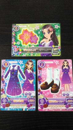 "Trading card of Japanesel Idol Animation ""AIKATSU"" Hime sakura school coord 89"