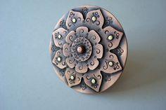 Mendhi Shield - Riveted Copper Ring - Kerdan