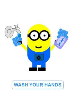 VISUAL AUTISM WASH YOUR HANDS MINIONS