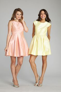 pastel shantung bridesmaid dresses
