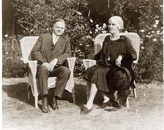 President and Mrs. Herbert Hoover.  In 1929 Mr. Hoover told the US congress that the worst of the recent stock market crash was over, and that American citizens had renewed faith in the economy. In reality, the Great Depression was just beginning and would lead to untold misery and poverty for the next ten years. The stock market did not recover to pre-crash levels until 1954.