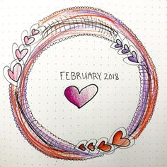 February Title Page for bullet journal from @kramp_bujo-