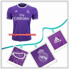 online store da995 fc991 Les Nouveaux Maillot Real Madrid Exterieur Violet Adidas 2016 17 Officiel