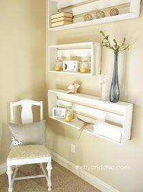 diy crate shelves