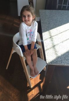 Stokke Steps Chair grows with your child up to 10 years of age | via @lilstylefile