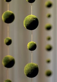 14.00 SALE PRICE! Bring a touch of the forest to your home with this globed strand. The Moss Ball Garland will bring unique, velvety detail to your hallway, ...