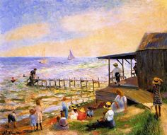 William James Glackens - Beach Side 1913