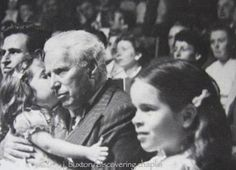 Charlie with daughters Josephine (in his lap) & Geraldine at the Knie Circus