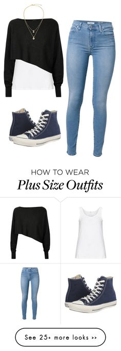 """Untitled #941"" by mikaelaryan on Polyvore featuring moda, Zhenzi, Crea Concept, 7 For All Mankind, Converse e Kate Spade"