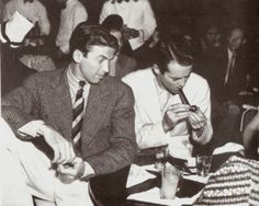 Actors James Stewart and Henry Fonda at Slapsy Maxies Cafe. Get premium, high resolution news photos at Getty Images Hollywood Men, Golden Age Of Hollywood, Vintage Hollywood, Classic Hollywood, Iconic Movies, Old Movies, Classic Movies, Rhett Butler, Margaret Mitchell