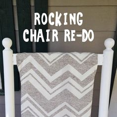 We Can Make Anything: rocking chair redo Rocking Chair Redo, Rocking Chair Cushions, Outdoor Rocking Chairs, Diy Chair, Leather Dining Room Chairs, Mid Century Dining Chairs, Modern Dining Chairs, Cracker Barrel Rocking Chair, Barrel Chair