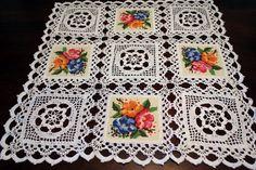 Crochet flower squares by DoilyMania on Etsy