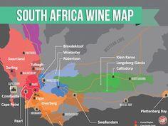 wine region map of africa Red Wine Cabernet, Cabernet Sauvignon, White Wine Grapes, Rioja Wine, Wine Press, South African Wine, Wine Folly, Africa Map, Wine Pairings