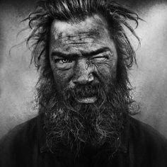Homeless // lee jeffries in 500px // Looks like a warlord or something.