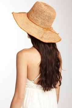 Crochet Raffia Hat