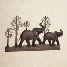 Elephant Metal Wall Art