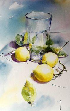 New fruit artwork watercolour artists Ideas Watercolor Fruit, Fruit Painting, Watercolor Artists, Watercolor Landscape, Watercolor Flowers, Watercolour Paintings, Watercolors, Painting & Drawing, Art Aquarelle