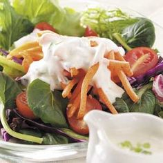 """Remember the good old days of ordering """"Creamy Garlic Dressing"""" for your Salad?? Why did it dissapear from Restaurants?? I really miss it. Make Your own. Garlic Salad Dressing"""