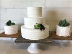 Rustic Buttercream cake. 12 9 6 Wedding fake | Etsy