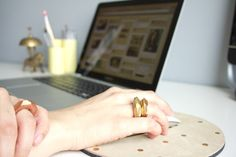 DIY Faceted Clay Rings on Poppytalk | Lovely Indeed