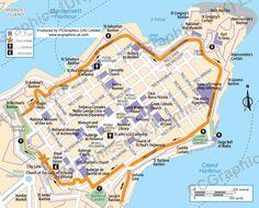 Valletta   Map of Malta   Pinterest