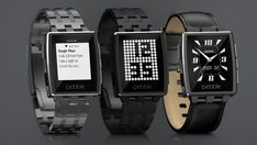 """Pebble Steel - Smart Watch with E-Ink Display - """"Hands On With the Pebble Steel Smartwatch"""""""
