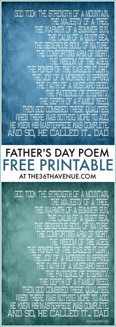 Father's Day Free Printables at the36thavenue.com