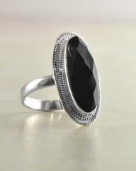 Oval Gemstone Sterling Silver Statement Ring - https://Sivalya.com