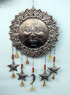 Metal Wall Art - Sun, Moon and Stars www,brilliantwallart.co.uk