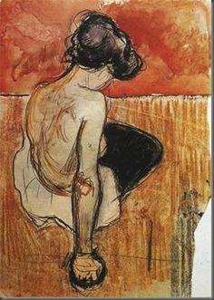 """""""Istuv modell"""", Edvard Munch, 1896 - """"Seated model"""", Edvard Munch, 1896"""