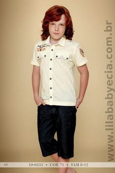 Conjunto Infantil Camisa e Shorts Jeans Diforini 100331