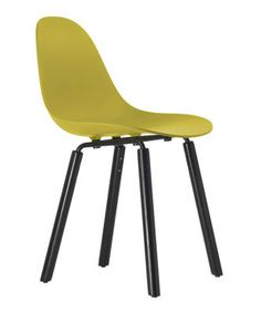 TA Chair - Wood legs Yellow / Black legs by Toou - Design furniture and decoration with Made in Design