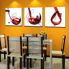 Wine theme kitchen decor is becoming very popular again especially so within the last couple of years. Wine themed kitchen decor ranges from elegant Wine Theme Kitchen, Kitchen Decor Themes, Home Decor, Art Decor, Kitchen Ideas, Dining Room Wall Art, Kitchen Wall Art, Dining Rooms, Kitchen Canvas