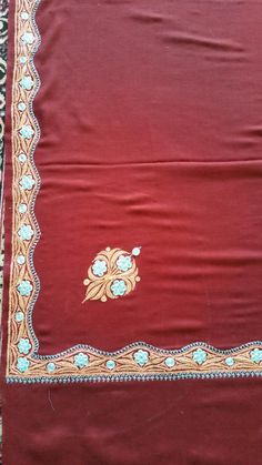 #embroidery pure pashmina shawl Kashmiri Suits, Kashmiri Shawls, Pashmina Shawl, Hand Weaving, Cashmere, Artisan, Tapestry, Pure Products, Embroidery
