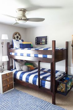 Bedding for Bunk Beds with Beddy's plus a coupon code for 20% off - Shades of Blue Interiors