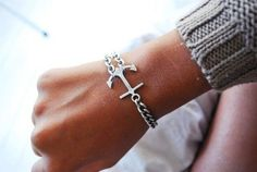 Anchor Bracelet..... Seriously need this for my bday, even though I said I only wanted Thundercats toys :)