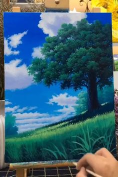 Canvas Painting Tutorials, Diy Canvas Art, Small Canvas Art, Acrylic Painting Lessons, Acrylic Painting For Beginners, Easy Canvas Painting, Canvas Paintings, Diy Painting, Landscape Art