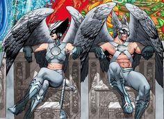 Hawkgirl & Hawkman. Superheroes. Justice League. Thanagarians. Aliens. Detective Comics. DC.